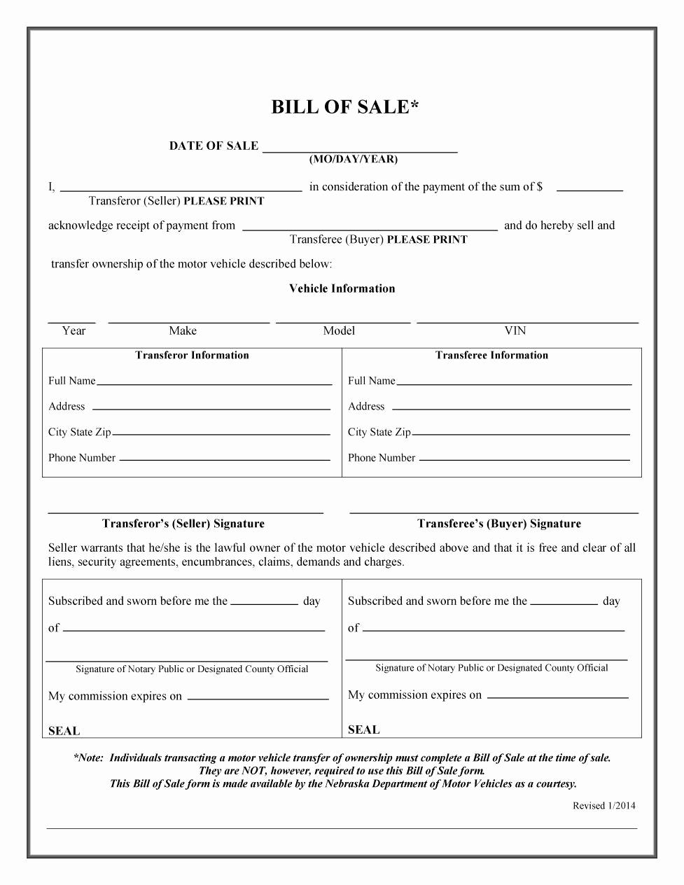 Free Vehicle Bill Of Sale Best Of 45 Fee Printable Bill Of Sale Templates Car Boat Gun