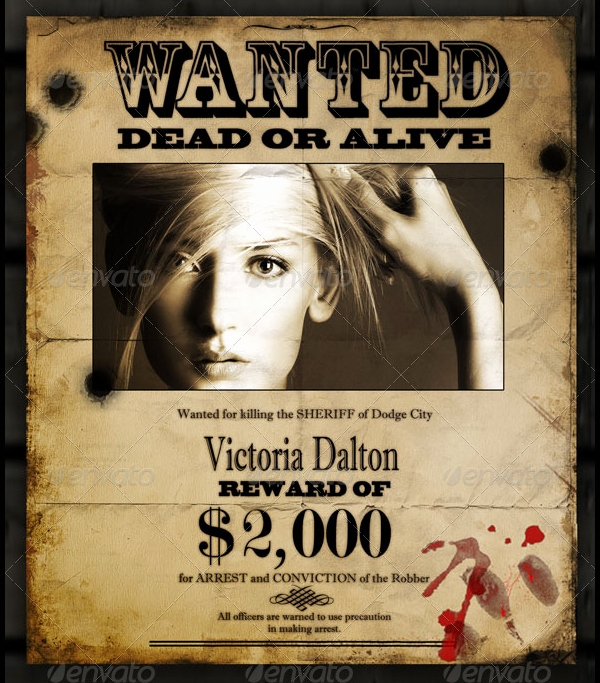 Free Wanted Poster Template Beautiful 17 Wanted Posters Free Psd Ai Vector Eps format