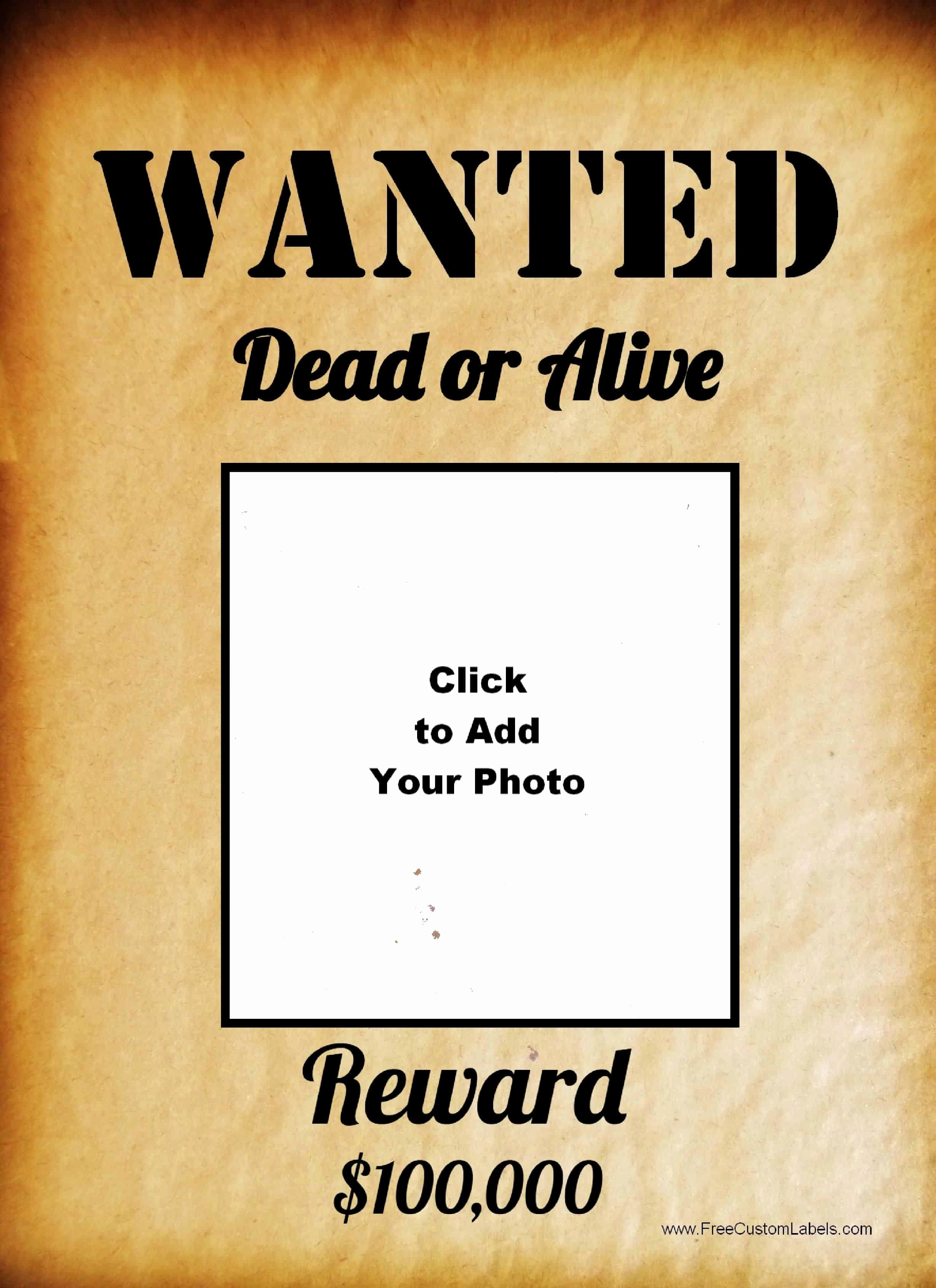 Free Wanted Poster Template Fresh Free Wanted Poster Maker