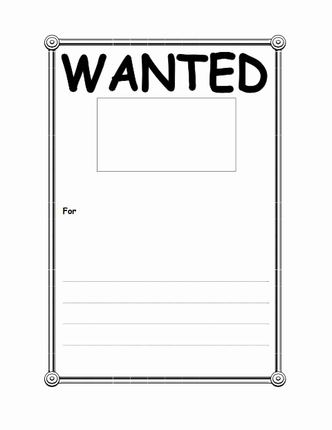 Free Wanted Poster Template Inspirational 18 Free Wanted Poster Templates Fbi and Old West Free