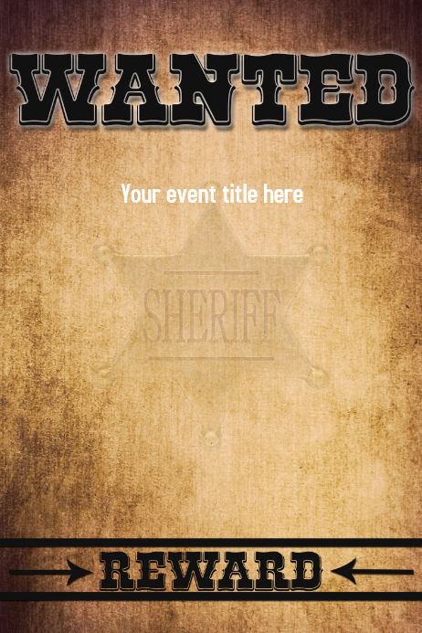 Free Wanted Poster Template Inspirational Wanted for Reward Wild West Poster Flyer Funny