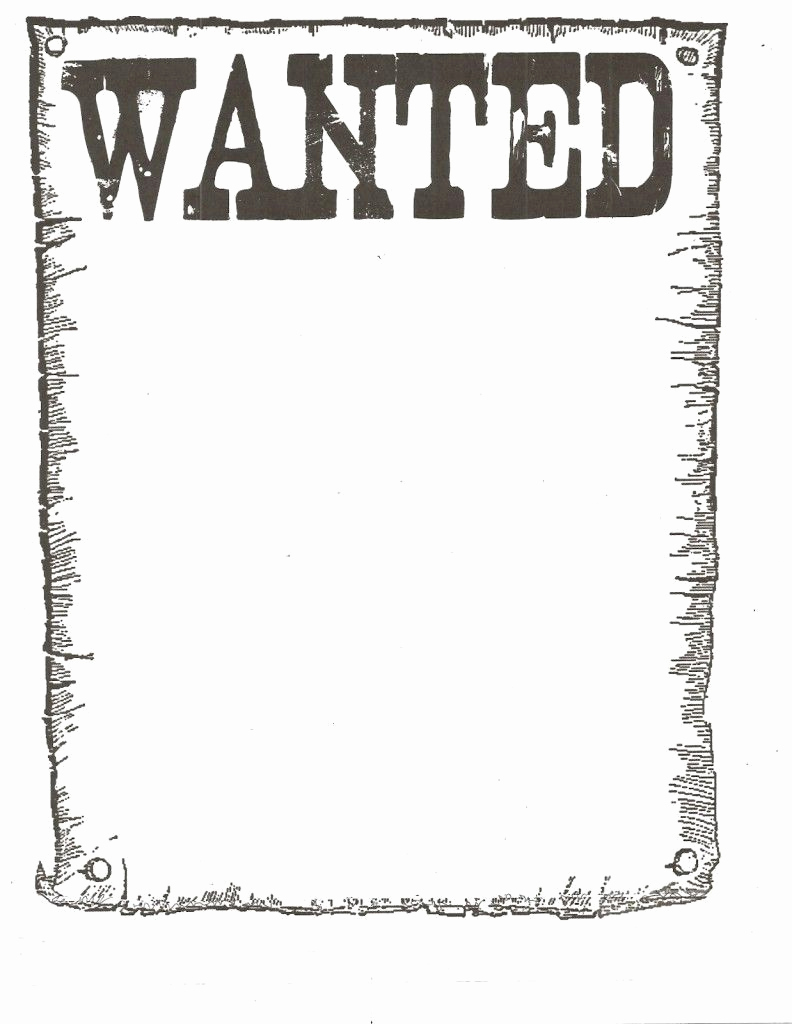 Free Wanted Poster Template Luxury Wanted Poster Template for Kidsclassroom