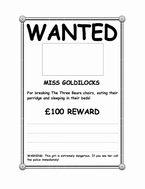 Free Wanted Poster Template New 18 Free Wanted Poster Templates Fbi and Old West Free