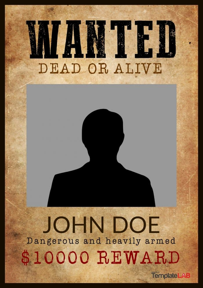 Free Wanted Poster Template New 29 Free Wanted Poster Templates Fbi and Old West
