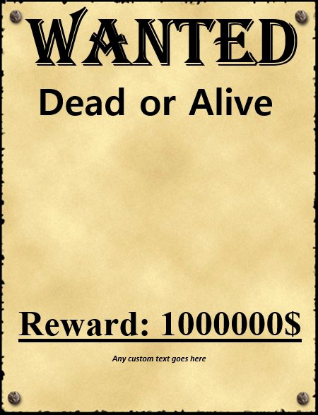 Free Wanted Poster Template Unique 18 Free Wanted Poster Templates Fbi and Old West Free