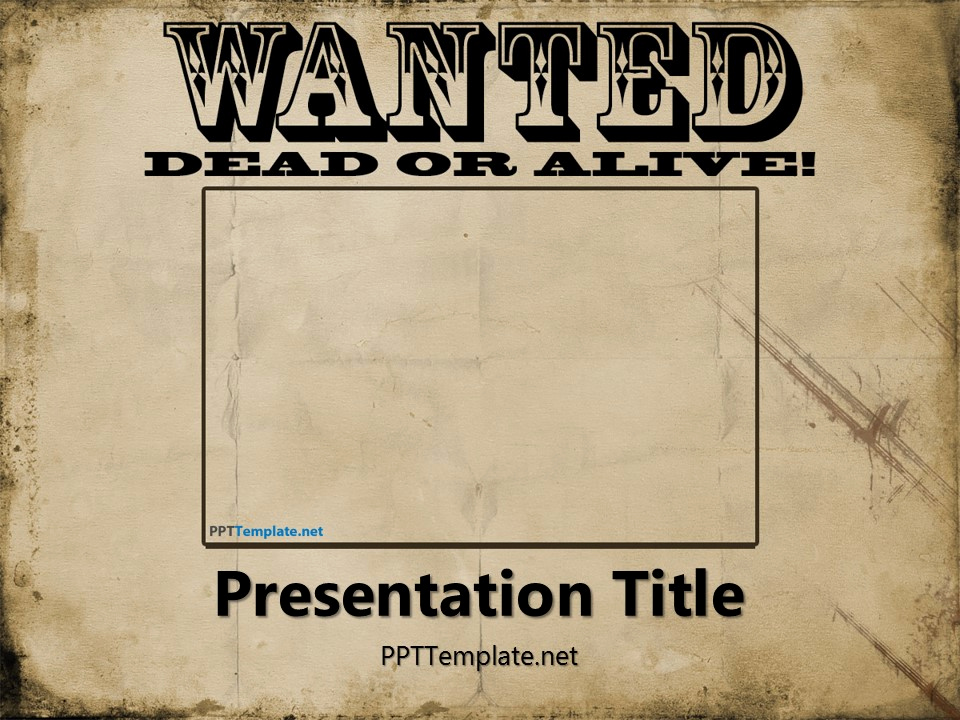 Free Wanted Poster Template Unique Free Wanted Poster Template for Powerpoint