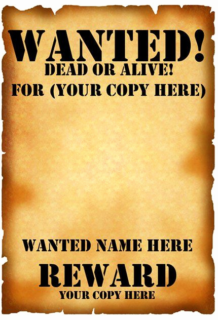 Free Wanted Poster Template Unique Wanted Poster Template Fbi and Old West Free
