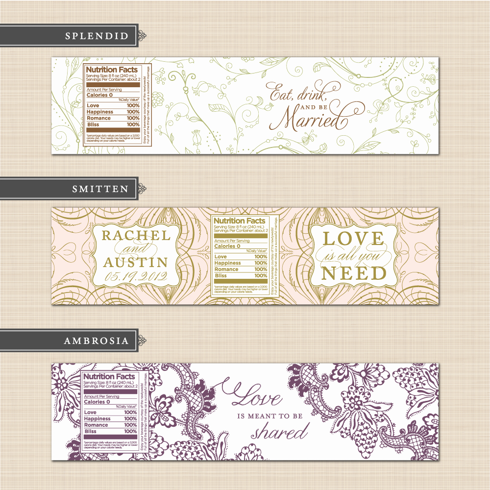 Free Water Bottle Label Template Awesome Belletristics Stationery Design and Inspiration for the
