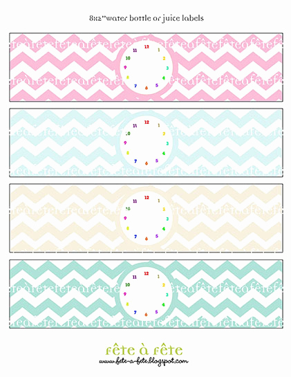 """Free Water Bottle Label Template Awesome Fête à Fête """"time Flies"""" Rainbow Collection Hot Off the"""