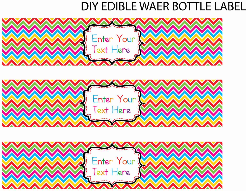 Free Water Bottle Label Template Best Of Best S Of Christmas Water Bottle Label Template Word