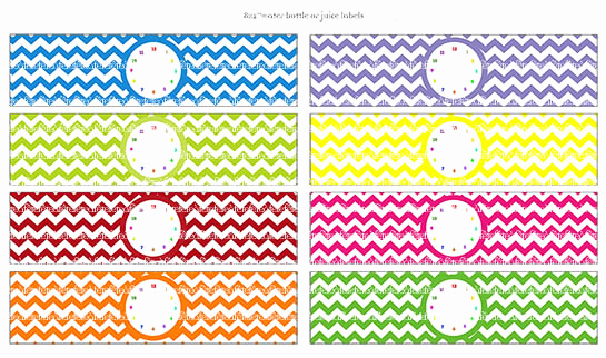 """Free Water Bottle Label Template Best Of Fête à Fête """"time Flies"""" Rainbow Collection Hot Off the"""