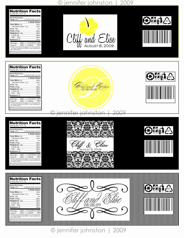 Free Water Bottle Label Template Best Of Water Bottle Label Design for Elise & Cliff