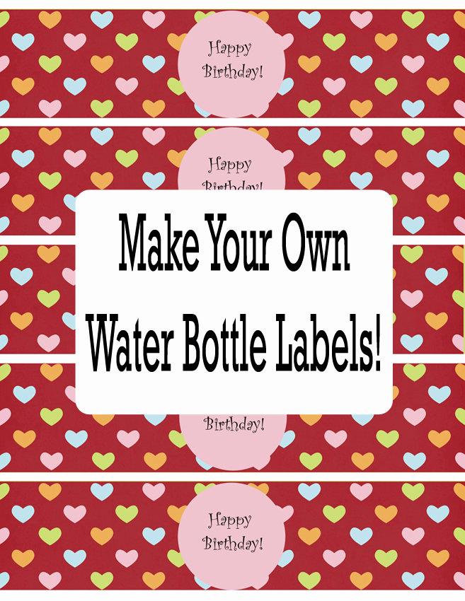 Free Water Bottle Label Template Elegant Water Bottle Labels Template