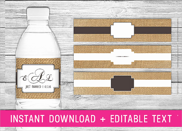 Free Water Bottle Label Template Lovely 24 Sample Water Bottle Label Templates to Download