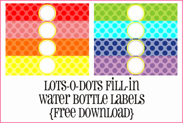 Free Water Bottle Label Template Lovely 9 Sets Of Free Printable Water Bottle Labels