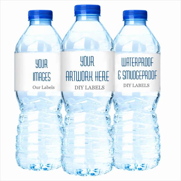 Free Water Bottle Label Template Unique 15 Printable Water Bottle Labels