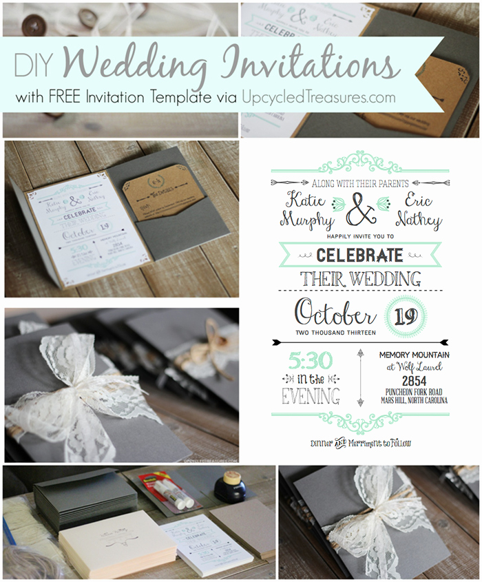 Free Wedding Invitation Printable Templates Awesome 10 Free Wedding Printables for the Crafty Bride – Party In