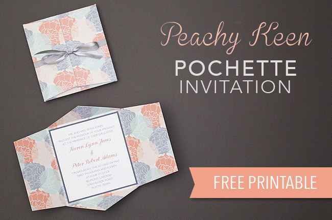 Free Wedding Invitation Printable Templates Awesome Free Wedding Invitation Printable Peachy Keen Pouchette