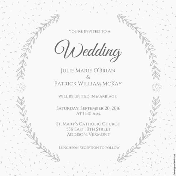 Free Wedding Invitation Printable Templates Beautiful 85 Wedding Invitation Templates Psd Ai