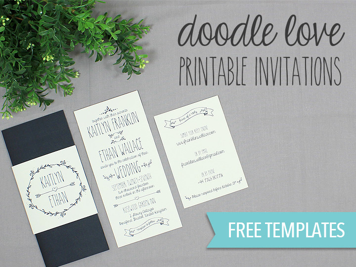 Free Wedding Invitation Printable Templates Best Of Doodle Love Printable Wedding Invitation Set