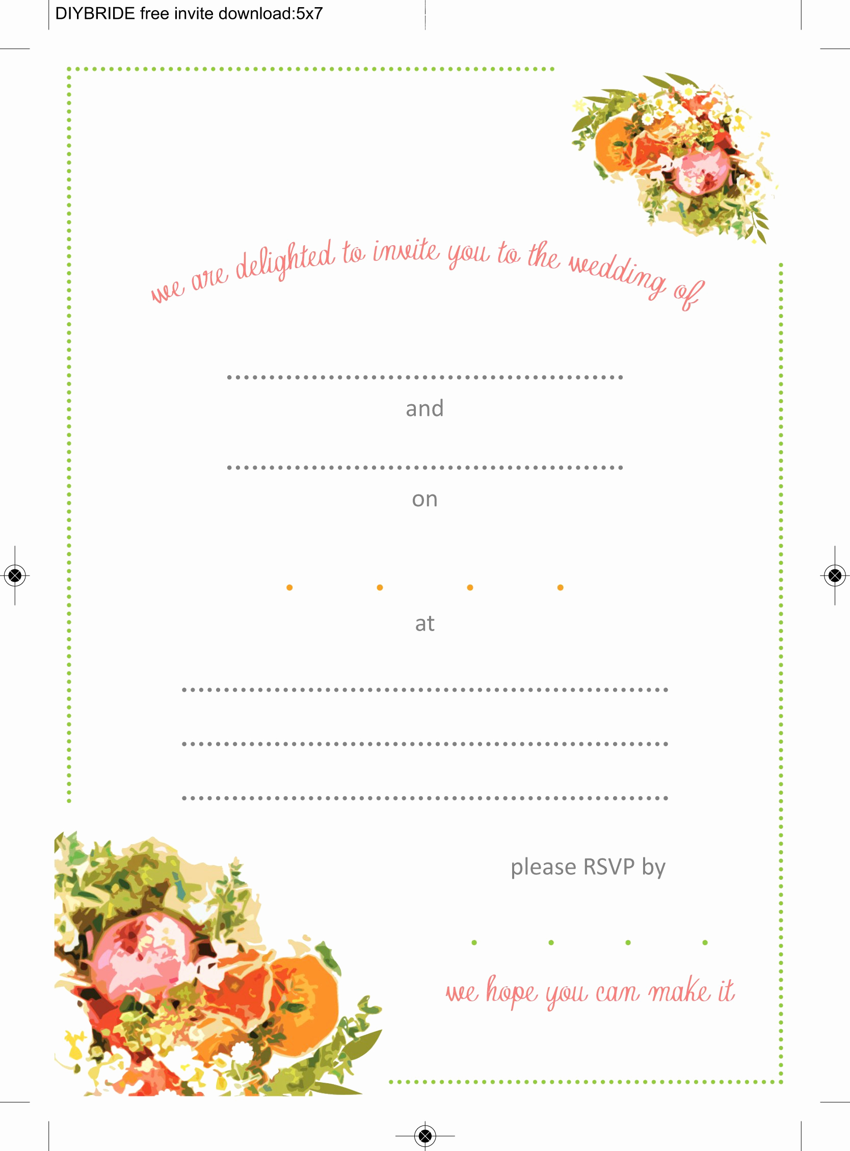 Free Wedding Invitation Printable Templates Fresh Wedding Invitation Templates that are Cute and Easy to
