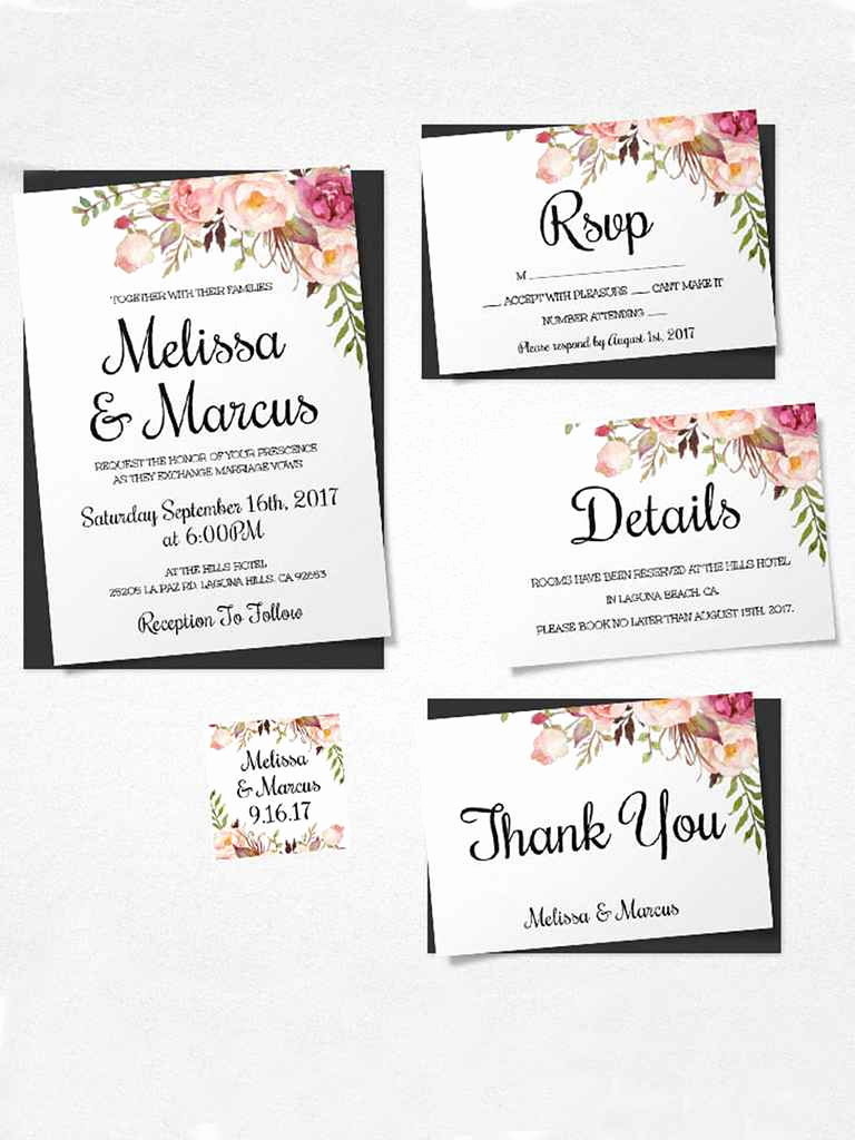 Free Wedding Invitation Printable Templates Luxury 16 Printable Wedding Invitation Templates You Can Diy