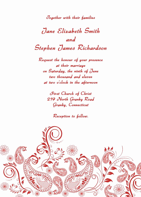 Free Wedding Invitation Printable Templates Unique Free Printable Wedding Invitation Templates