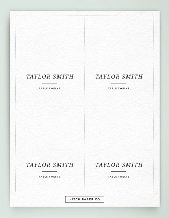 Free Wedding Place Card Template Awesome Printable Table Place Cards Template