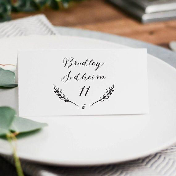 Free Wedding Place Card Template Awesome Rustic Wedding Place Cards Template Printable Wedding Place