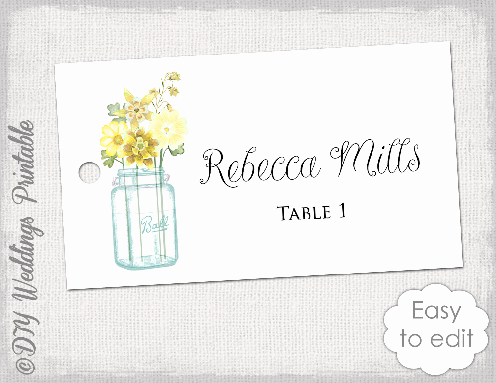 Free Wedding Place Card Template Best Of Place Card Template Printable Wedding Name Cards Mason