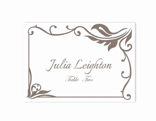 Free Wedding Place Card Template Best Of Place Cards Wedding Place Card Template Diy Editable