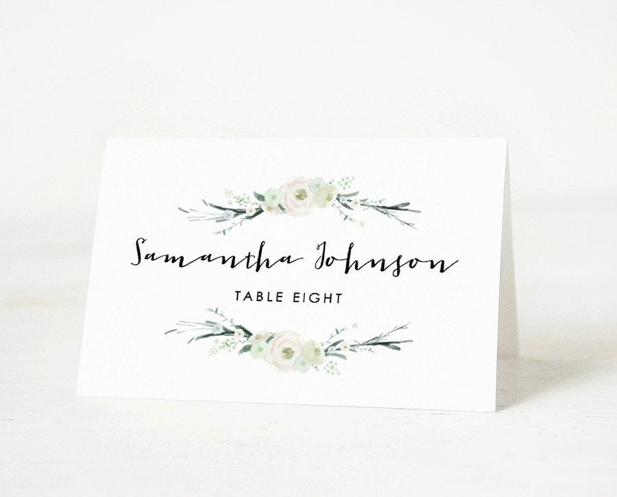 Free Wedding Place Card Template Best Of Printable Place Card Template Wedding Place Card Name