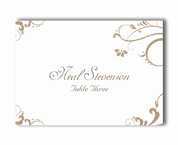 Free Wedding Place Card Template Elegant Place Cards Wedding Place Card Template Diy Editable