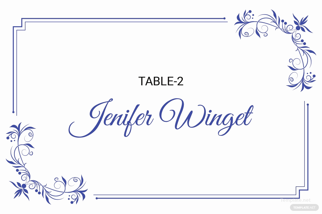 Free Wedding Place Card Template Fresh Free Delicate Lace Place Wedding Place Card Template In