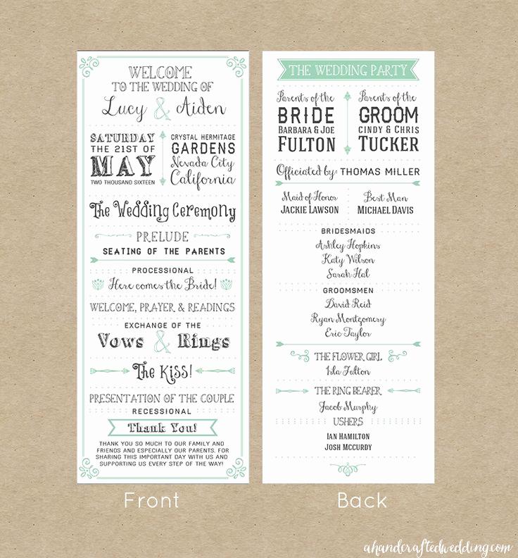 Free Wedding Program Template Beautiful Best 25 Wedding Program Templates Ideas On Pinterest