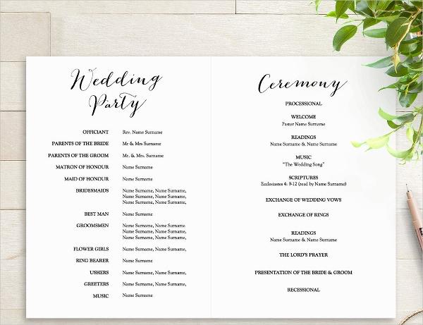 Free Wedding Program Template Best Of 25 Wedding Program Templates Free Psd Ai Eps format