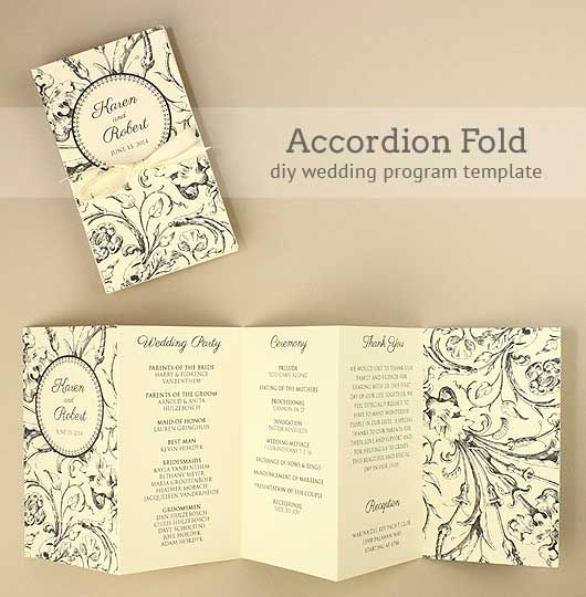 Free Wedding Program Template Best Of Diy Accordion Wedding Program Free Template Project