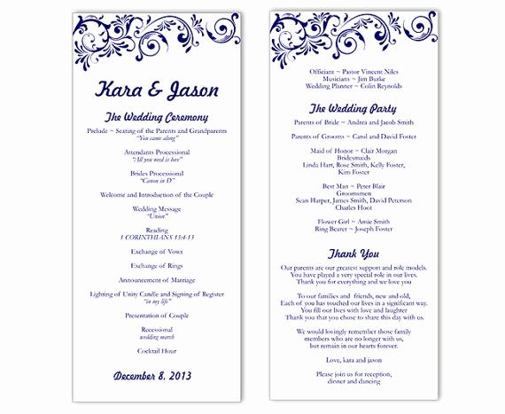 Free Wedding Program Template Elegant Wedding Program Template Word