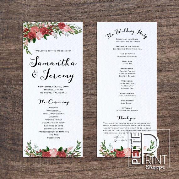 Free Wedding Program Template Lovely Wedding Program Template
