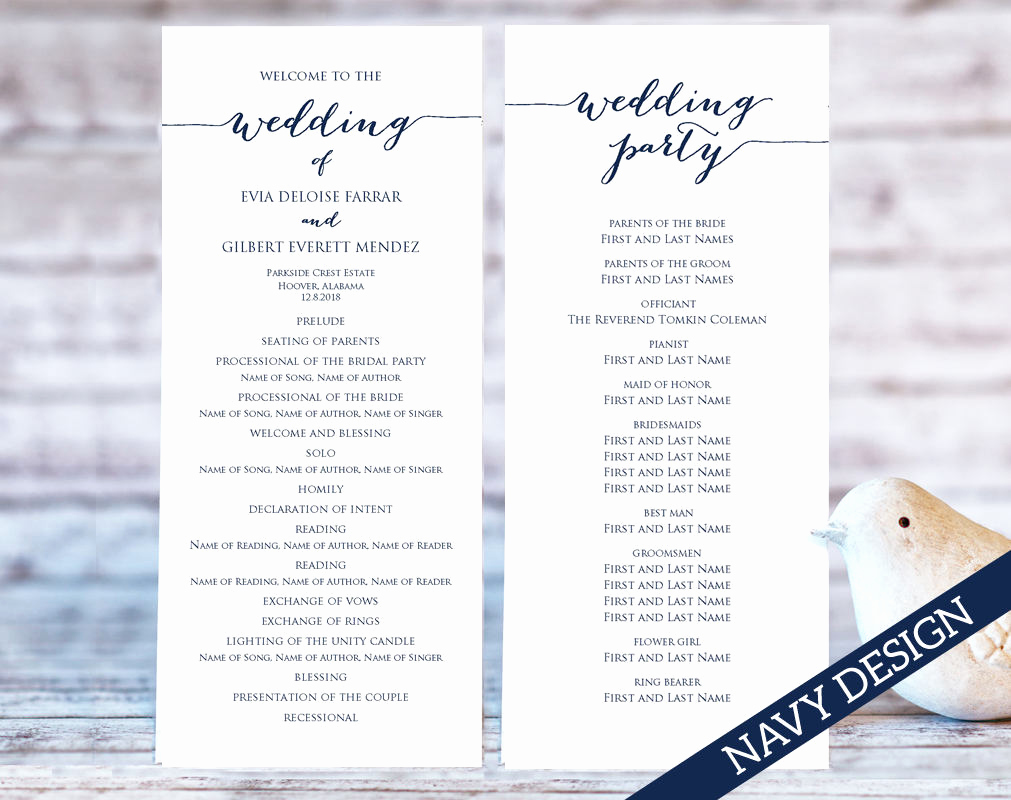 Free Wedding Program Template Luxury Wedding Program Templates · Wedding Templates and Printables