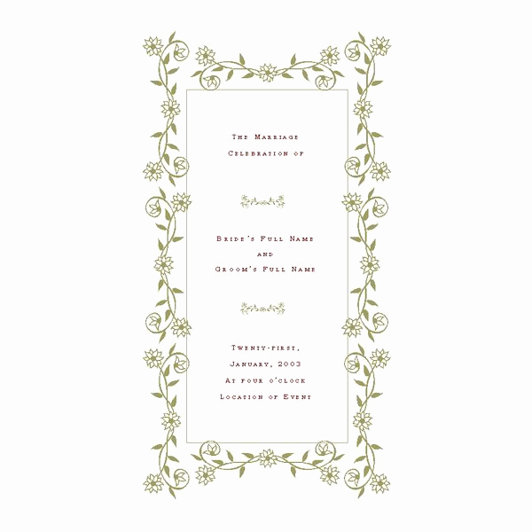 Free Wedding Program Template New Free Wedding Program Templates De Stress Your Wedding