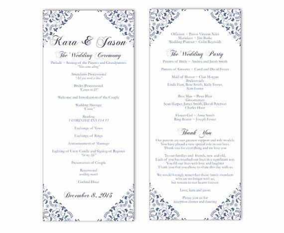 Free Wedding Program Template New Wedding Program Template Word