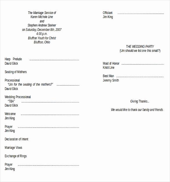 Free Wedding Program Template Unique Wedding Program Templates – 15 Free Word Pdf Psd