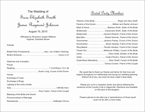 Free Wedding Program Template Unique What to Include In Your Wedding Program