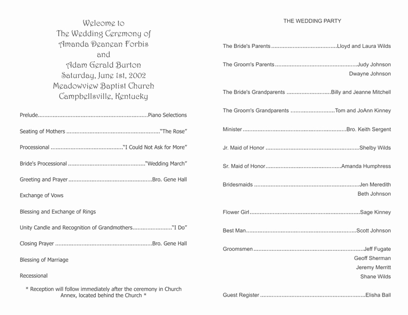 Free Wedding Program Templates Word Awesome Wedding Program Templates Wedding Programs Fast