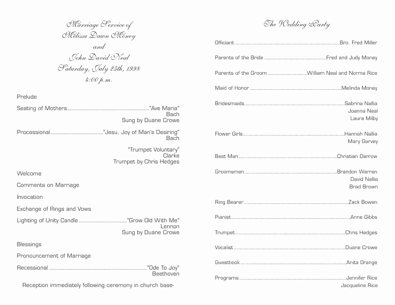 Free Wedding Program Templates Word Beautiful Wedding Program Template 6
