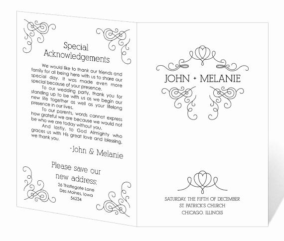 Free Wedding Program Templates Word Beautiful Wedding Program Template Word