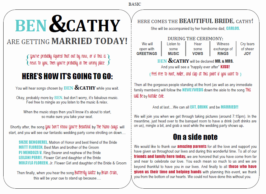 Free Wedding Program Templates Word Best Of Funny Wedding Programs On Pinterest