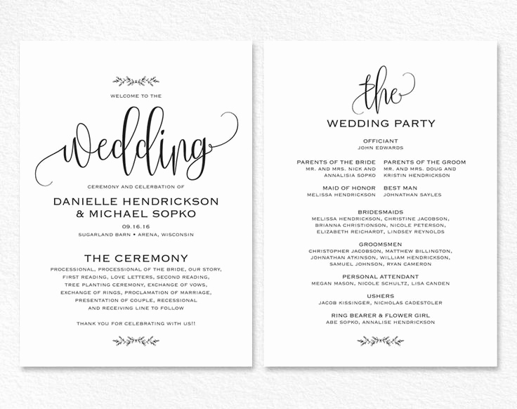 Free Wedding Program Templates Word New Best 25 Wedding Invitation Templates Ideas On Pinterest