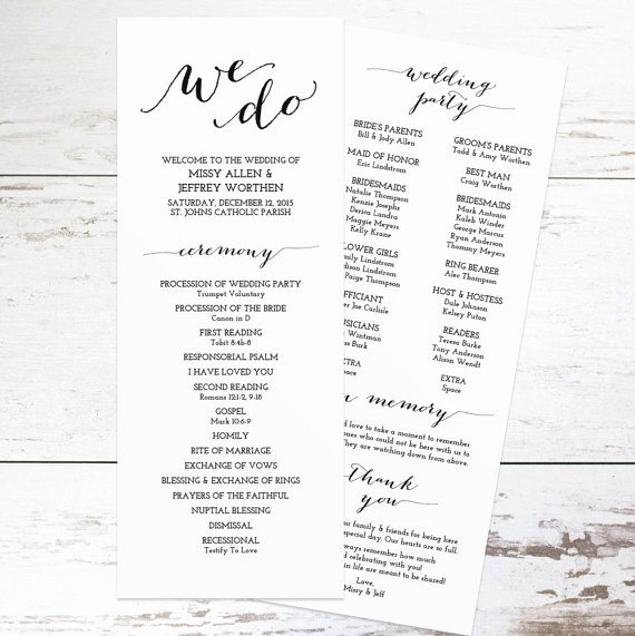 Free Wedding Program Templates Word New Free Wedding Program Templates